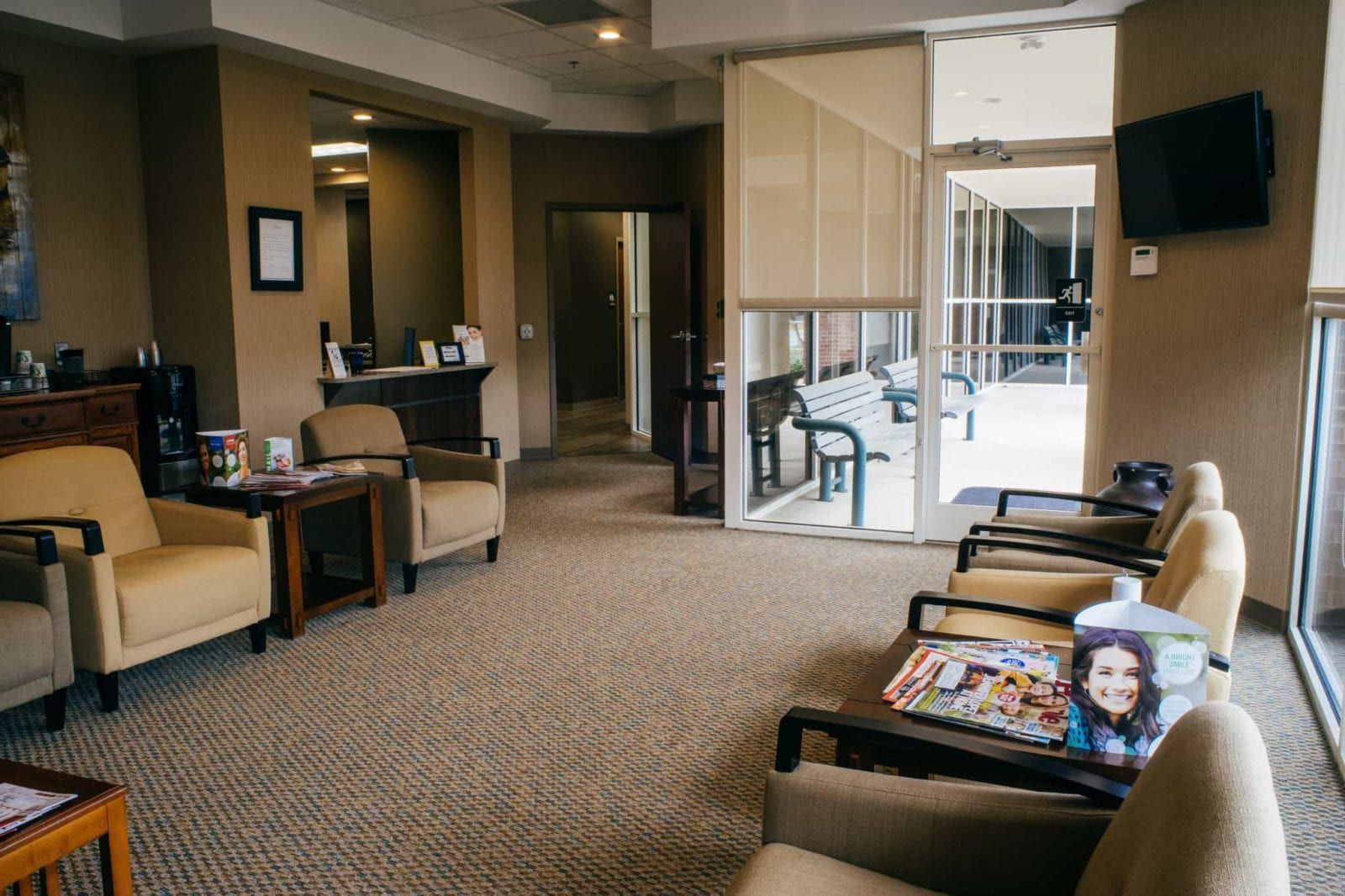 Waiting area of Covington Dental