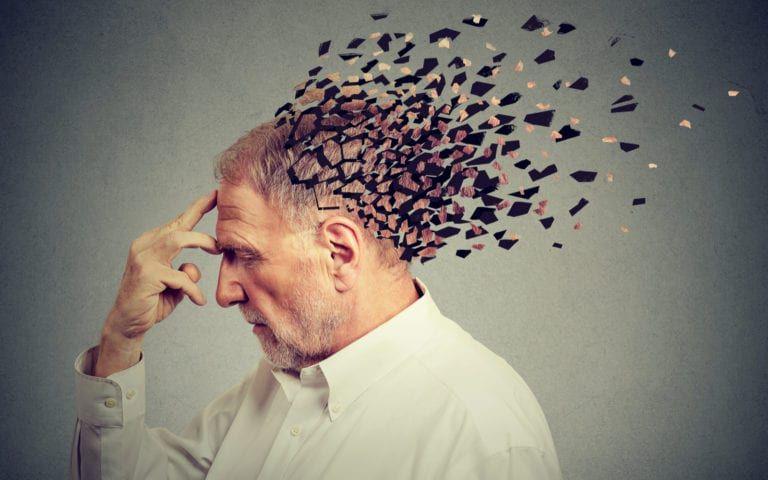 Man's mind fragmenting